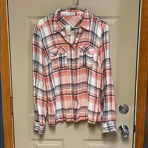 Maurices plaid button up